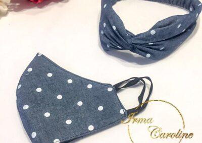 kit cubreboca y hairband $170.-